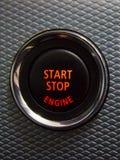 Illuminated Start Stop engine button Royalty Free Stock Photo