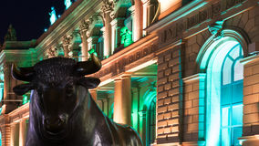 Illuminated Stock Exchange Royalty Free Stock Photos