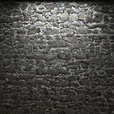 Illuminated stone wall Royalty Free Stock Image
