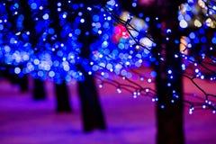 Illuminated street Stock Photo