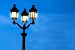 Illuminated street light at night Royalty Free Stock Images