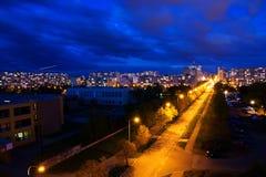 Illuminated street Stock Photos