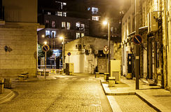Illuminated street of old Jaffa Royalty Free Stock Images