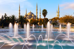 Illuminated Sultan Ahmed Mosque (Blue Mosque), Istanbul, Turkey. Illuminated Sultan Ahmed Mosque (Blue Mosque), Istanbul, Turkey Royalty Free Stock Photo