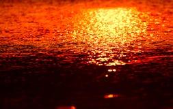 Illuminated Sunlights Reflection - Stock Photograph stock image