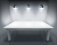 Illuminated table. Vector illustration. Stock Photo
