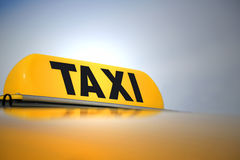 Illuminated Taxi Sign Royalty Free Stock Photos
