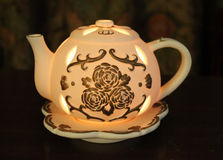 Illuminated Tea Pot Stock Photos