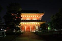 Illuminated temple, Myoshinji Kyoto Japan. Royalty Free Stock Photo
