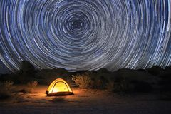 Joshua Tree National Park Star Trails stock image