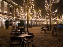 Illuminated terrace Royalty Free Stock Image