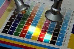 Illuminated test print Stock Photos