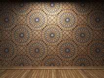 Illuminated tile wall Stock Image