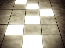Illuminated Tiles Stock Images