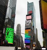 Illuminated Times Square. Times Square with lots of lights in New York (USA royalty free stock photography