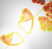 Illuminated touch hearts Royalty Free Stock Images