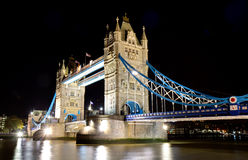 Illuminated tower bridge at night Royalty Free Stock Image
