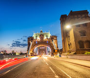 Illuminated Tower Bridge at night, London - UK Royalty Free Stock Photos