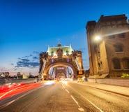 Illuminated Tower Bridge at night, London - UK Royalty Free Stock Photos