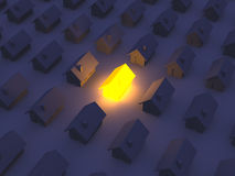 Illuminated Toy house Royalty Free Stock Images