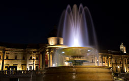 Illuminated Trafalgar Square Royalty Free Stock Photo
