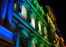Illuminated Treasury Building Royalty Free Stock Photography