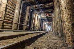 Free Illuminated Underground Tunnel With Railway Royalty Free Stock Photo - 104271615