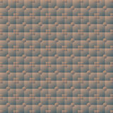 Illuminated volume seamless texture of square and round tiles Royalty Free Stock Images