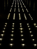 Illuminated walkway Royalty Free Stock Photography