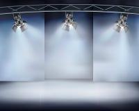 Illuminated wall. Vector illustration. Stock Photo