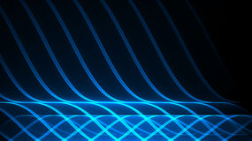 Abstract technology background Illuminated waves Royalty Free Stock Images
