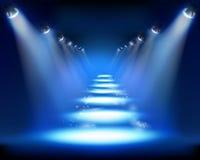 Illuminated way. Stock Image