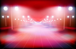 Illuminated way. Vector illustration Stock Photo