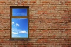 Illuminated window Stock Photography