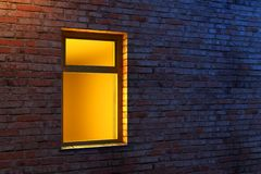 Illuminated window Stock Photo
