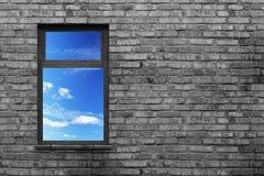 Illuminated window Royalty Free Stock Image