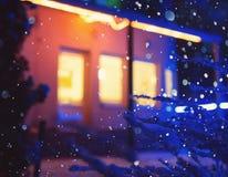 Illuminated windows at night. Royalty Free Stock Photo