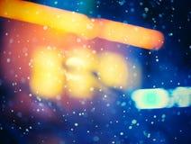 Illuminated windows at night. Royalty Free Stock Images