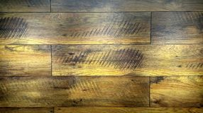 Illuminated wooden boards stock photography