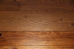 Illuminated wooden wall in a house royalty free stock photography