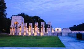 Illuminated World War II Memorial Royalty Free Stock Photo