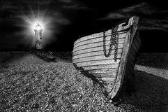 Illuminated wreck Royalty Free Stock Photography