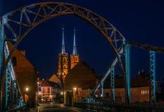 Illuminated Wroclaw - Poland Royalty Free Stock Photos