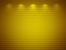 Illuminated yellow wall, background Stock Photos