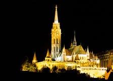 Illuminates Matthias church Stock Image