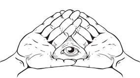 Illuminati标志-上帝的眼睛 免版税库存图片