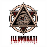 Illuminati. All seeing eye pyramid symbol Royalty Free Stock Images