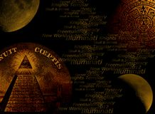 Illuminati concept background. Illuminati new world order concept image royalty free illustration