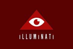 ILLUMINATI ILUSTRATION. `Not allow the eye to fool the mind stock illustration
