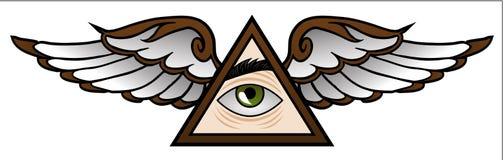 Illuminati-Karikatur Stockbild